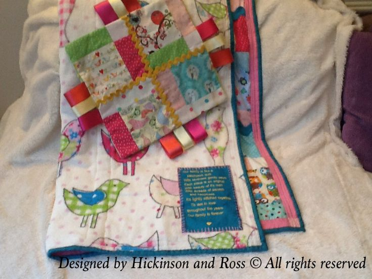 Romaya's Ric Rac quilt with it's matching comforter mini squilt