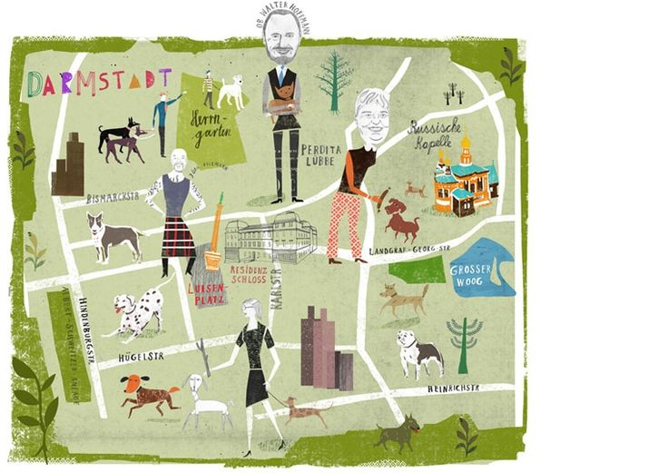 Martin Haake - Darmstadt map