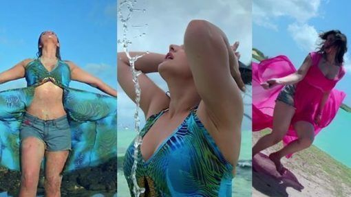 Bollywood hot & sexy heroine Zareen Khan Hot Bikini Images 2018, download Zarine Khan latest HD wallpapers & photoshoot pictures. Unseen uncensored oops moment photos showing bra & panti. kissing videos and images top hot images showing hottest ever pix in saree. Get top 10 topless & liplock images uncut wardrobe video