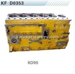 6D95 cylinder block for komatsu PC200-5/6 excavator (PC200-5/6) - China cylinder block, AOKA