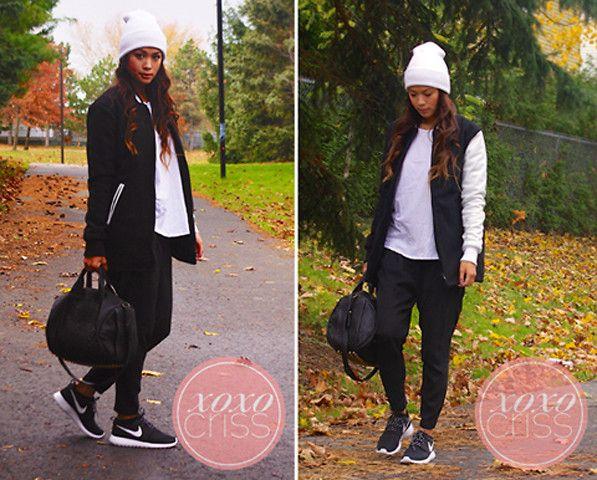 Nike Roshe Run Women Black Outfit