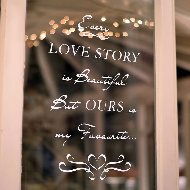 'love story' wall and window sticker by oakdene designs | notonthehighstreet.com