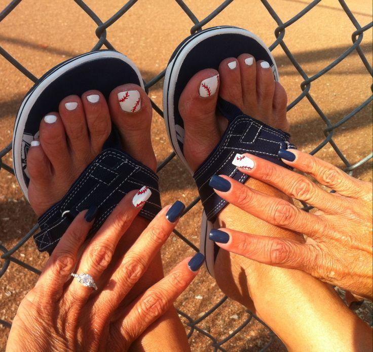 Baseball Toes & Nails ❤️⚾️