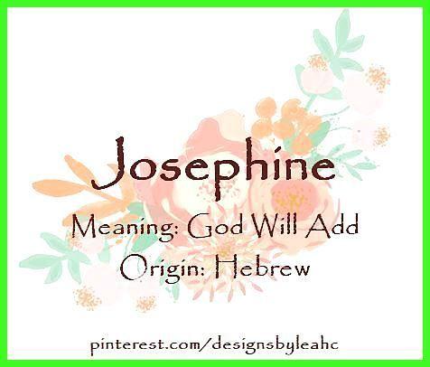 Bedeutung Josephine