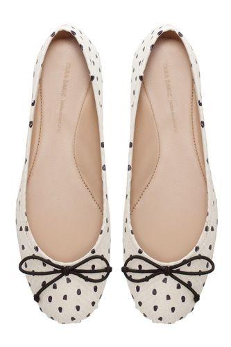 Polka Dot Ballerina Shoes from Zara