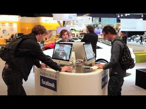 Renault connects Facebook to the AutoRAI with RFID. - YouTube