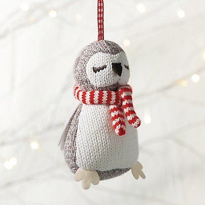 Knitted Owl Decoration | The Little White Company