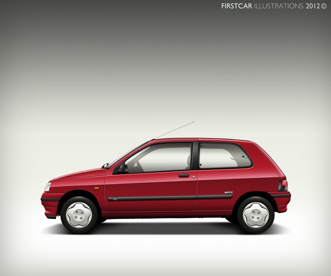 1996 - RENAULT CLIO - firstcar illustrations