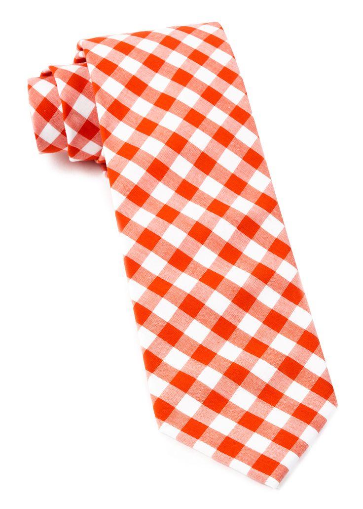 42 best ties images on pinterest men ties neck ties and tie orange classic gingham tie ccuart Image collections