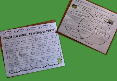 Compare and contrast essay frogs and toads