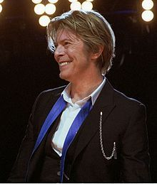 Bowie smiling