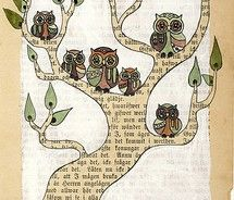 quote treeOwls Families, Old Book Pages, Family Trees, Art Journals, Journals Pages, Owls Art, Families Trees, Altered Book, Old Books