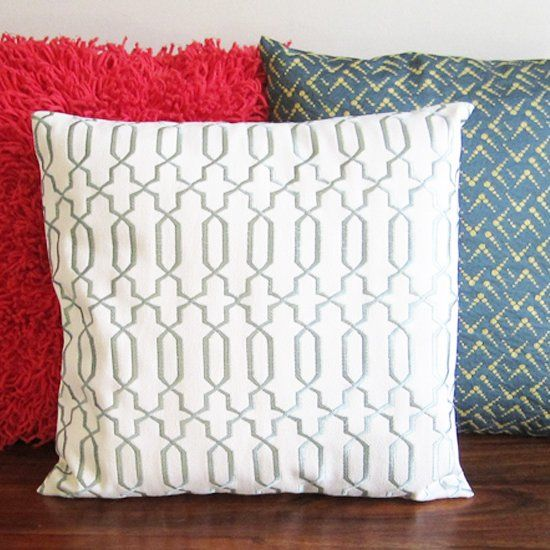 Super simple, beginner level sewing project.  Make some envelope backed pillow covers and spruce up for spring!