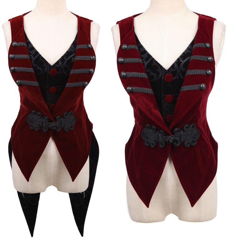 Veste rouge queue de pie detachable elegant gothique Punk Rave Y-539 > JAPAN ATTITUDE - VETVES223 Shop : www.japanattitude.fr