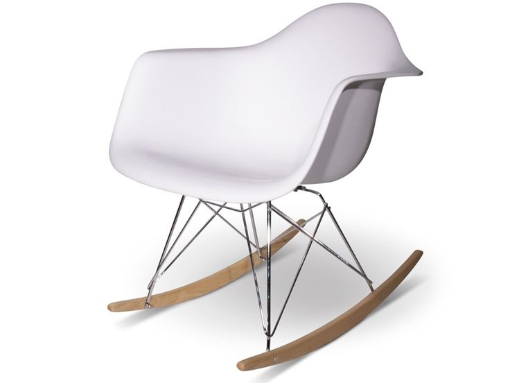 1000 id es sur le th me eames rocking chair sur pinterest eames rocking ch - Chaise a bascule blanche ...