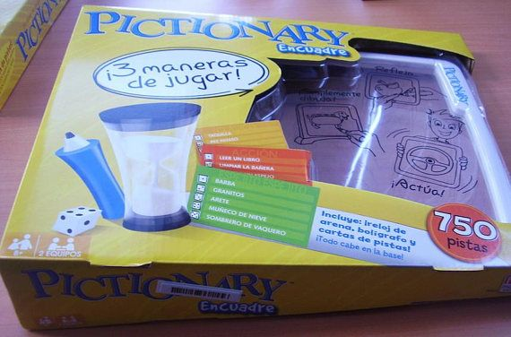 Pictionary Board Game Pictograma Encuadre Nuevo Sellado