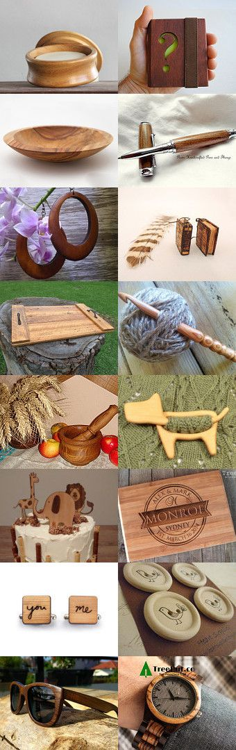 Wood, wood, glorious wood by Yvonne on Etsy--Pinned+with+TreasuryPin.com