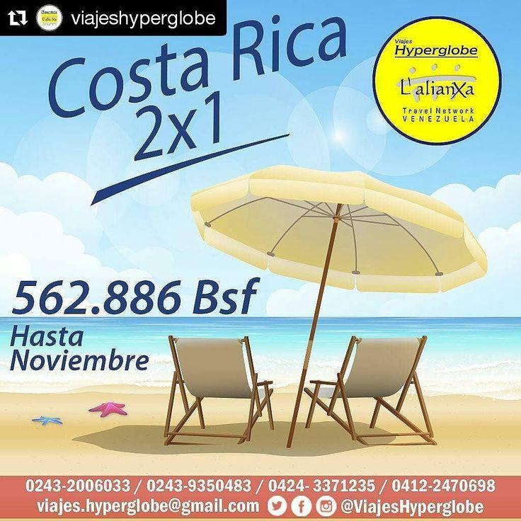 Agencias de viaje hay muchas pero solo @viajeshyperglobe le ofrece verdaderos #profesionales comprometidos para hacer de su #viaje una de las mejores experiencias de su #vida  #publicidad #autanaenlacima  #Repost @viajeshyperglobe  Vive unas vacaciones inolvidables en pareja a #CostaRica con nuestra #Promocion 2x1.  Para mayor información y cotización escribe a: Dfiguera@hyperglobe.com.ve Rguedez@hyperglobe.com.ve Cgonzalez@hyperglobe.com.ve Jtovar@hyperglobe.com.Ve  Puedes Comunícate por…