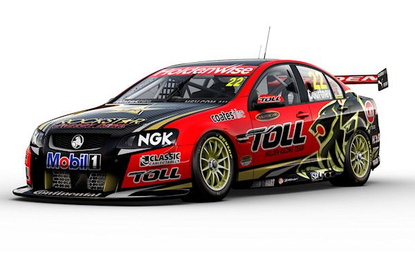 Holden Racing Team reveal 2012 racing colours     The Holden Racing Team has shown off the livery that it will race in this year's V8 Supercar championship, with continued backing from Toll and with drivers 2010 champion James Courtney and 2007 champion Garth Tander.   The car will again run in predominantly black and red as it did last season with sponsorship from Australian logistics company Toll and Rockstar Energy drink, with more gold in this year's colour scheme.    Tander will compete…