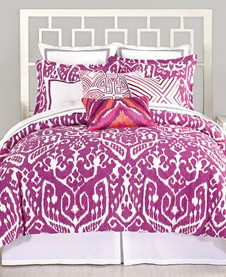 Trina Turk Bedding, Ikat Purple King Duvet Cover Set - Duvet Covers - Bed & Bath - Macy's Bridal and Wedding Registry