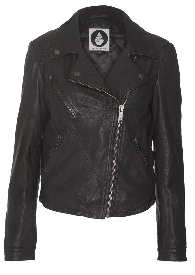 volcom rockaway perfecto leather jacket our shop favorites pinterest leather jackets. Black Bedroom Furniture Sets. Home Design Ideas