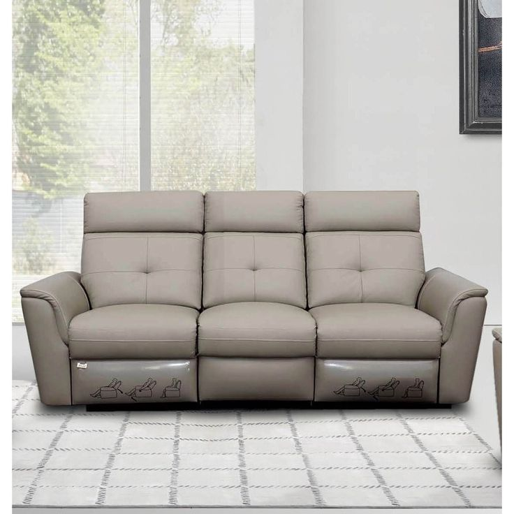 Sofa BedSleeper Sofa This modern living room sofa w recliners features the finest genuine Italian leather upholstery bined