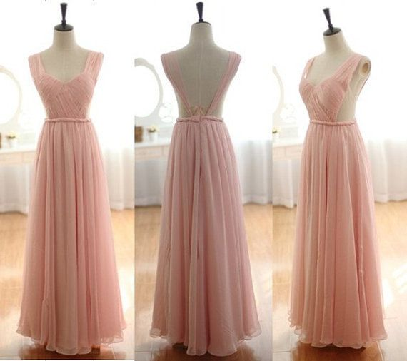 Charming Prom Dress,Chiffon Long Evening Dress,Formal Evening Dresses,Long