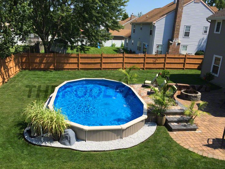 17 best images about semi inground pools on pinterest for In ground pool deck ideas