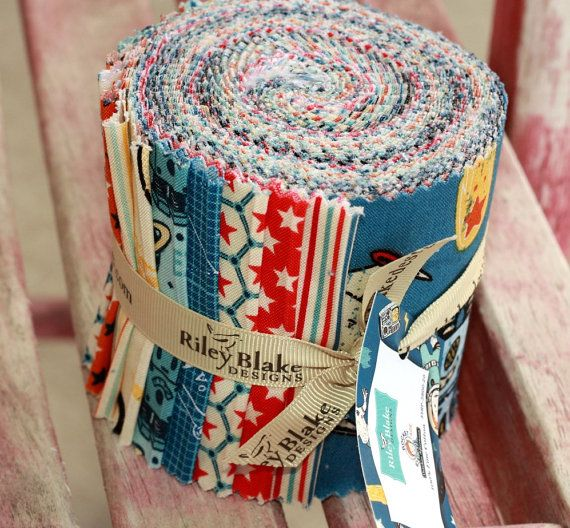3.5 inch ROCKET AGE Jelly Roll strips fabric by by quilttaffy, $28.00