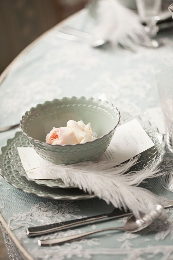 ADORE this place setting. plates from Anthropologie.