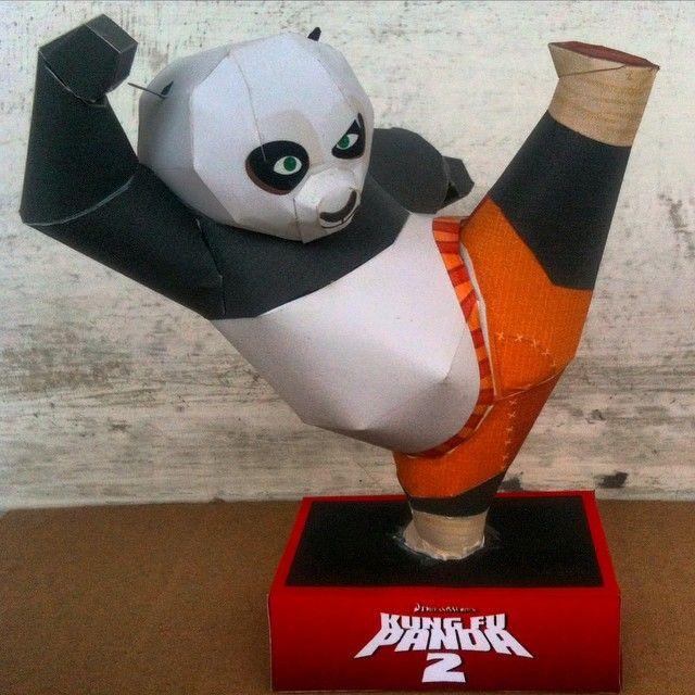 Po, Kung Fu Panda . #paper #prakarya #papercraft #DIY #karton #kertas #kerajinan #PoKungFuPanda #KungFuPanda #Kreatif #Creative
