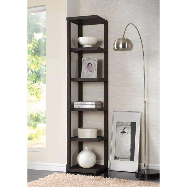 Ginder Corner Bookcase Acme Furniture Modern Bookcase Shelves