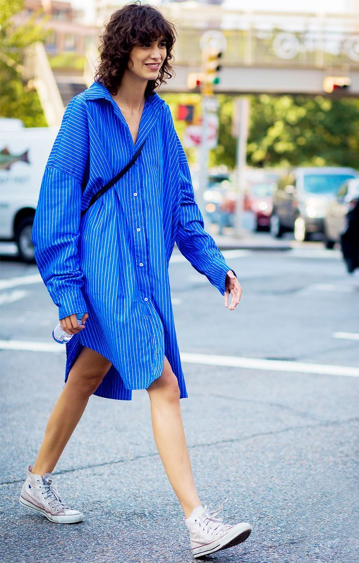 90077707b3f Cool new ways to wear a striped shirt. 23 Striped-Shirt Outfits ...