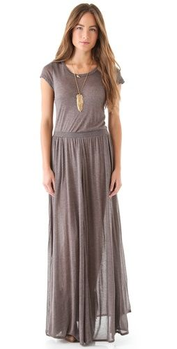 heather maxi tee dress in mink