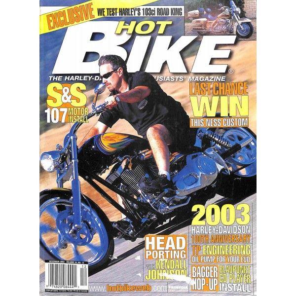 Hot Bike December 2002 Bike Magazine Hot Bikes Harley D