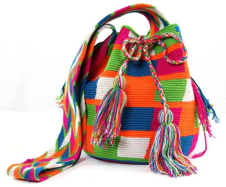 Neon Checkers - Mochila Bag