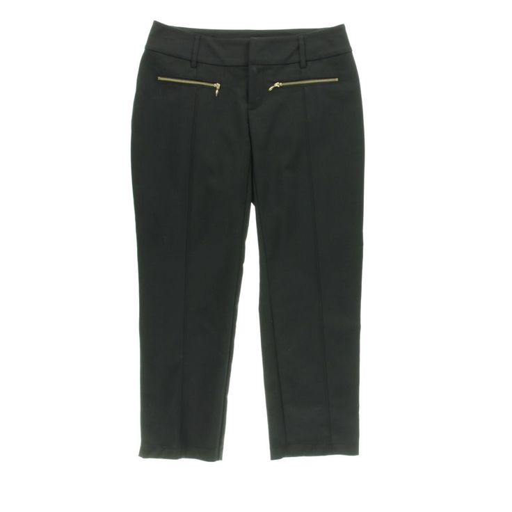 INC Womens Curvy Fit Pintuck Cropped Pants