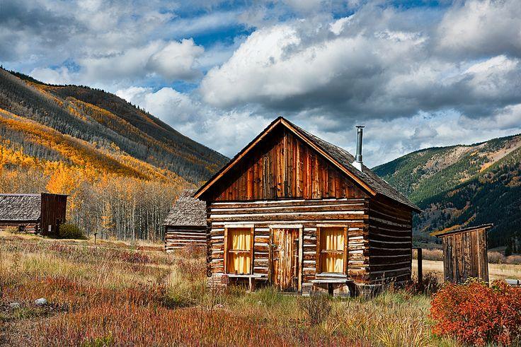 cabin in colorado   ... SouthWest: Colorado: Color: Miner's Log Cabin in Ashcroft Ghost Town