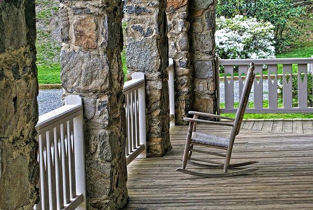 Varanda, Cadeira De Balanço, Madeira, Relaxar