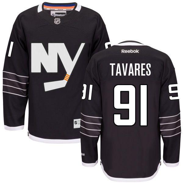 fa9a6df1145 Youth Reebok New York Islanders 91 John Tavares Black Third Jersey - Premier  islanders 91 john tavares premier alternate black jersey ...