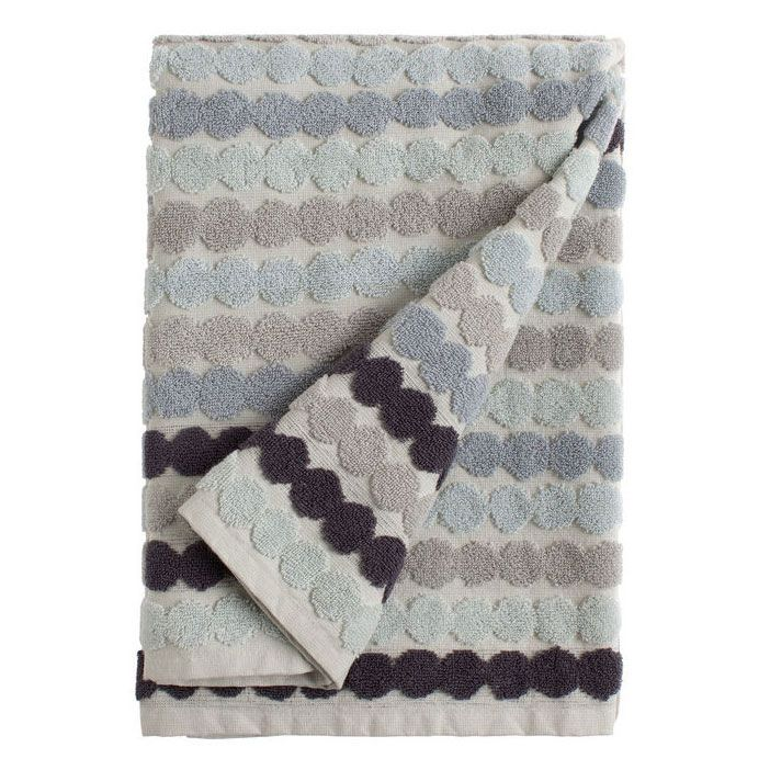 Räsymatto bath towel, Grey/White, Marimekko