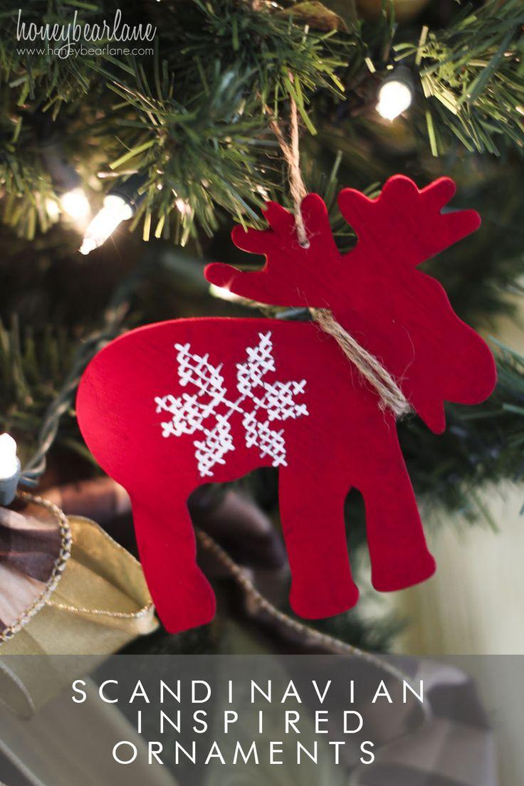 scandinavian inspired ornaments 715 best REINDEER images