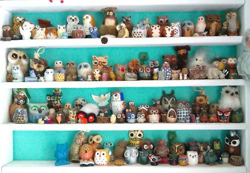 Owl Collection.   Mine looks something like this...only bigger with no repeats.