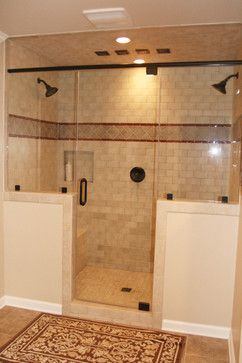 Warm master bathroom remodel - traditional - bathroom - philadelphia - Robinson Interiors