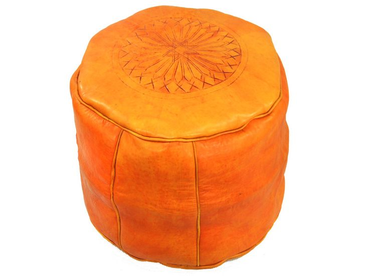 Light orange leather seats from Morocco http://www.etnobazar.pl/shop/etnoswiat/profile/search/ca:pufy