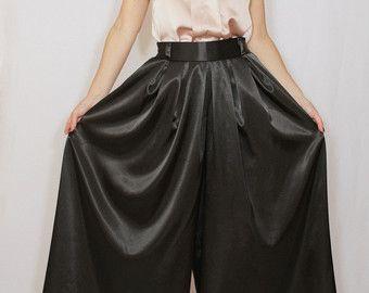 Cobalt blue pant skirt Chiffon palazzo pants Fashion by dresslike