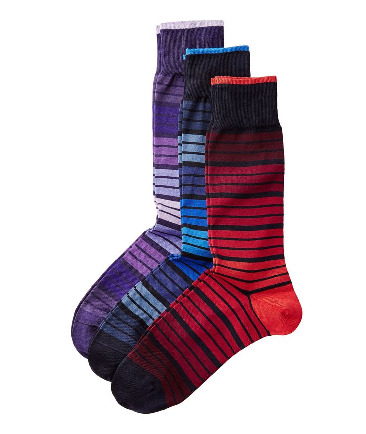 Three Pack Multi-Coloured Socks