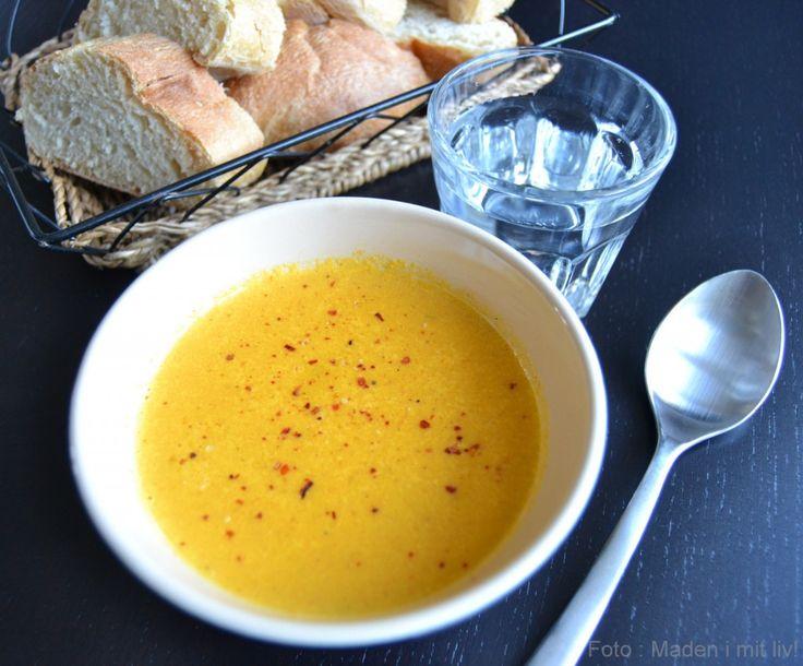 Cremet gulerodssuppe – super enkel og lækker…