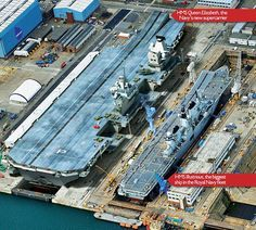 HMS Queen Elizabeth is being built in sections, which are then transported by sea to