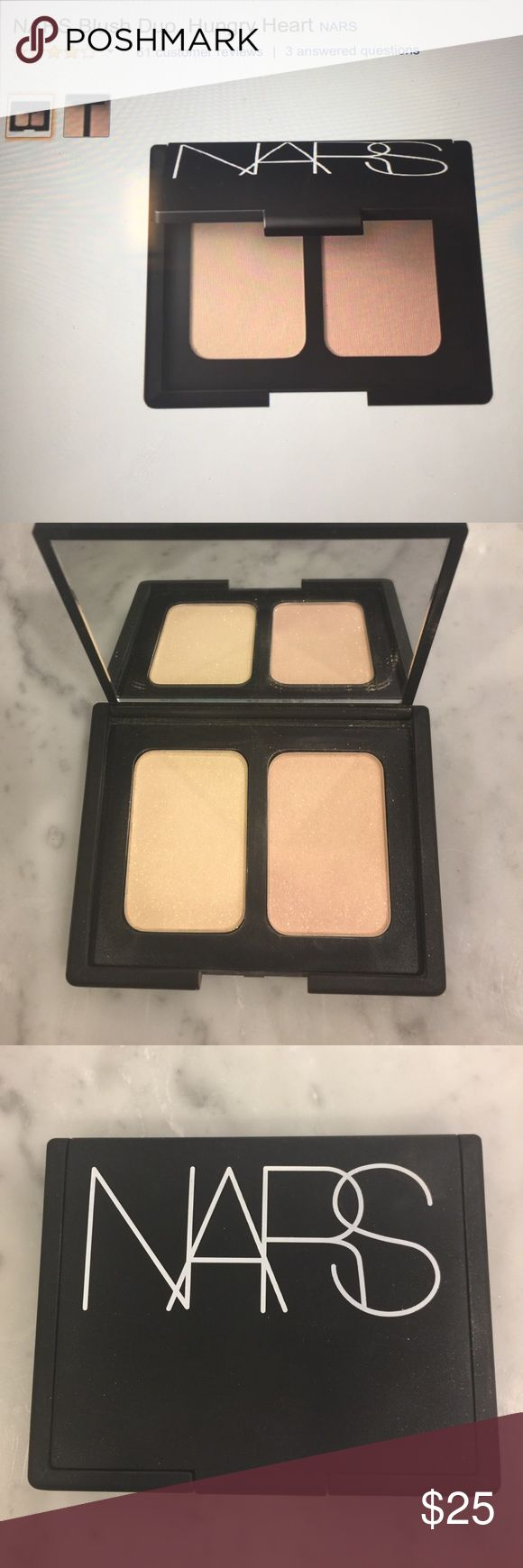 NARS Hungry Heart Blush Duo Used one time. Like new. A bronzer and blush great for everyday makeup. Bronzer is matte and blush has a little shimmer but is awesome. Find my old one right after purchased this replacement! NARS Makeup